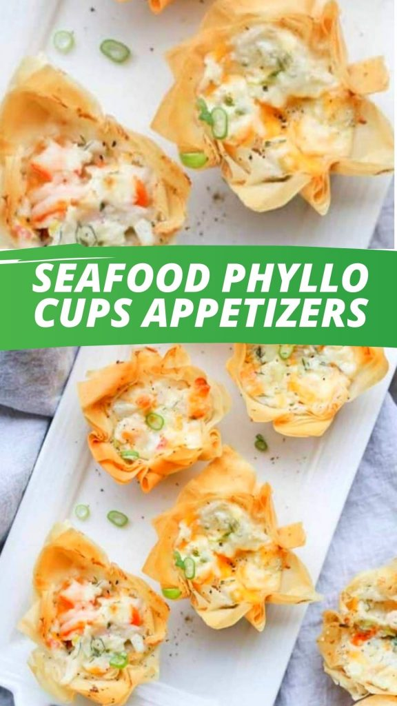 Seafood Phyllo Cups Appetizers